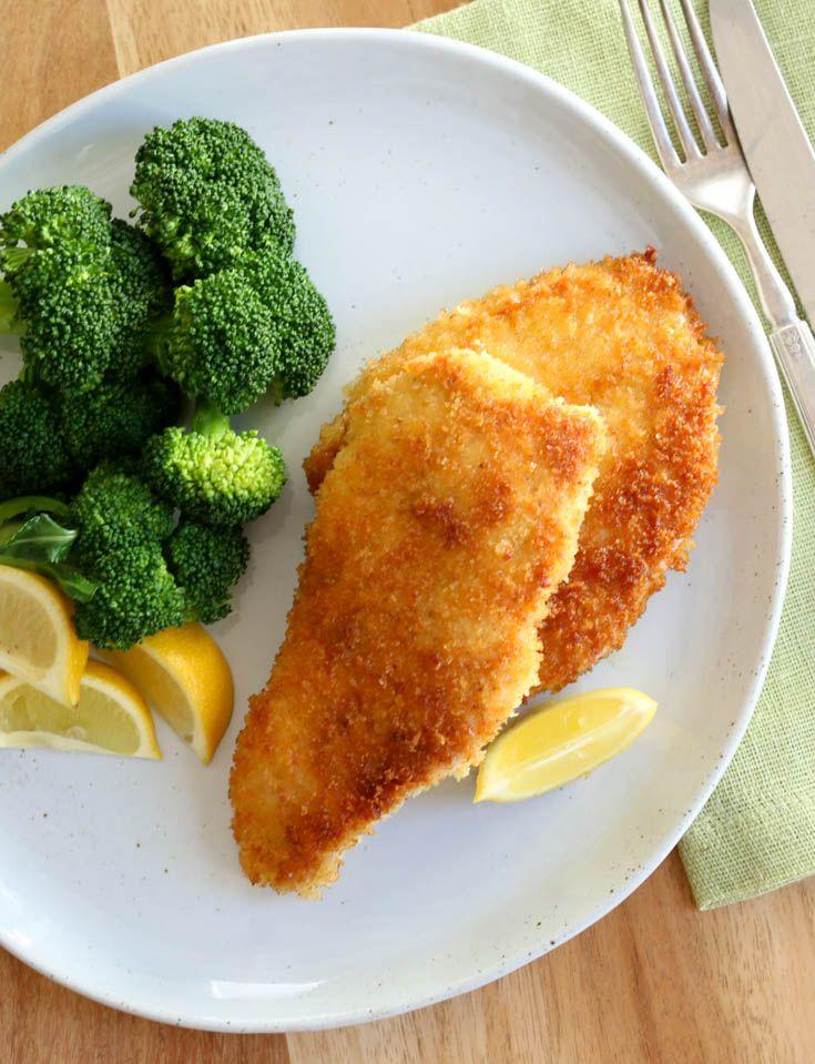 Chicken milanesa recipe. Fast weeknight dinner idea