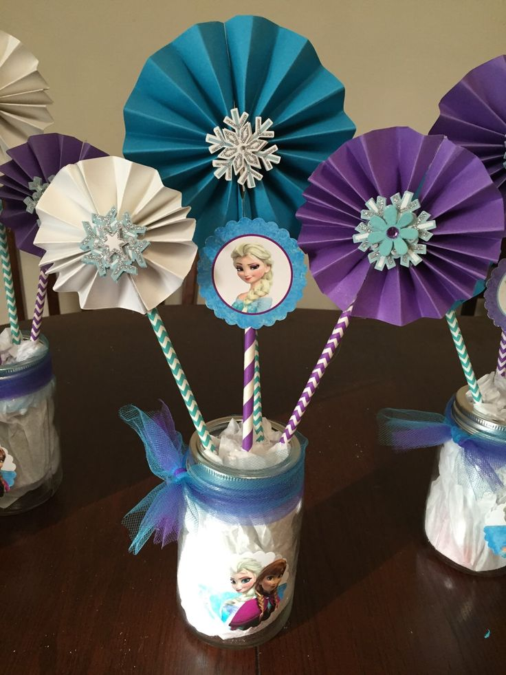 Peronalized Frozen Centerpiece by YeseniaSerendipity on Etsy