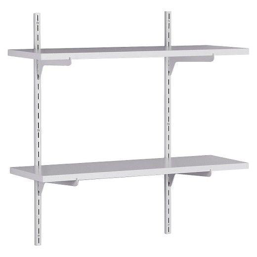 ClosetMaid WallMounted Adjustable 2Shelf Shelving Unit