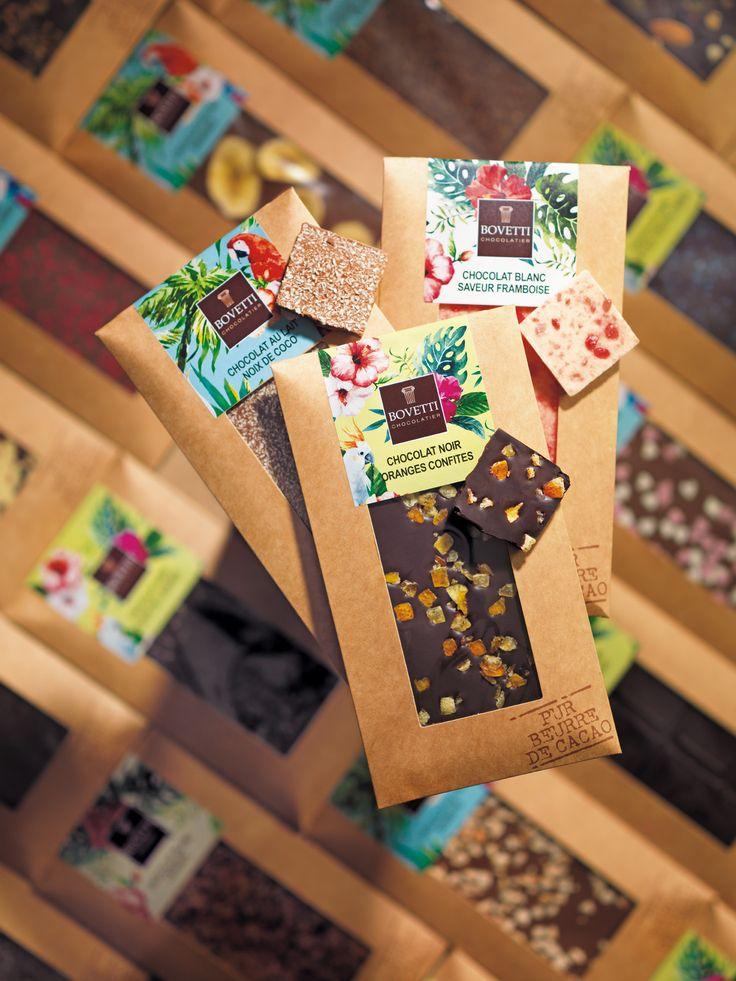 Nouveaux Packaging colorés pour la chocolaterie Bovetti