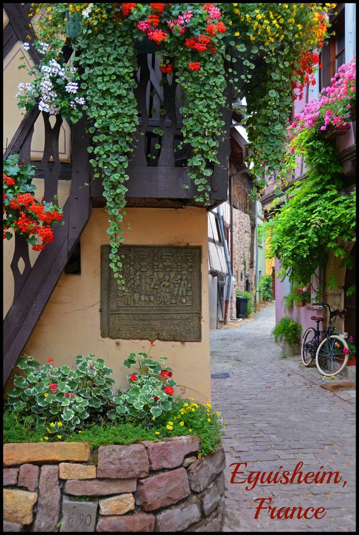 Equisheim, France - A beautiful village in the Alsace wine region of France