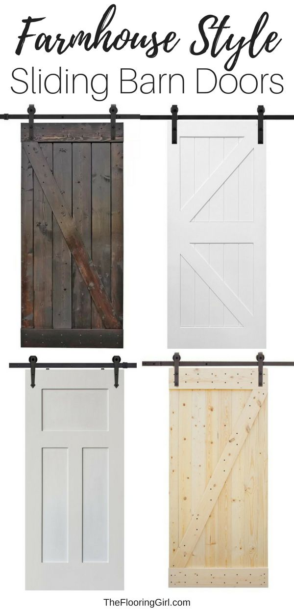 11 Affordable Sliding Barn Doors For An Authentic Farmhouse Look Barn Doors Sliding Bathroom Farmhouse Style Farmhouse Style Kitchen