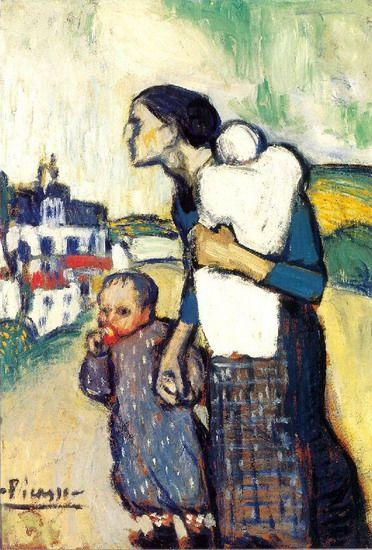 Picasso: Mère et enfant (1905) ══════════════════════  BIJOUX  DE GABY-FEERIE   ☞ http://gabyfeeriefr.tumblr.com/ ✏✏✏✏✏✏✏✏✏✏✏✏✏✏✏✏ ARTS ET PEINTURES - ARTS AND PAINTINGS  ☞ https://fr.pinterest.com/JeanfbJf/pin-peintres-painters-index/ ══════════════════════