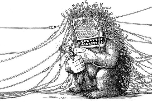 Dessin sur l'envahissement de l'informatique paru dans L'Express