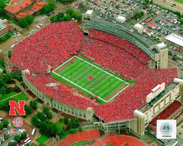 Nebraska Cornhuskers Memorial Stadium Ncaa College Football 8 X