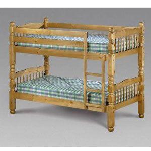 Julian Bowen Chunky Bunk 3ft Single Bed Finish Antique Pine Dimensions 110d X