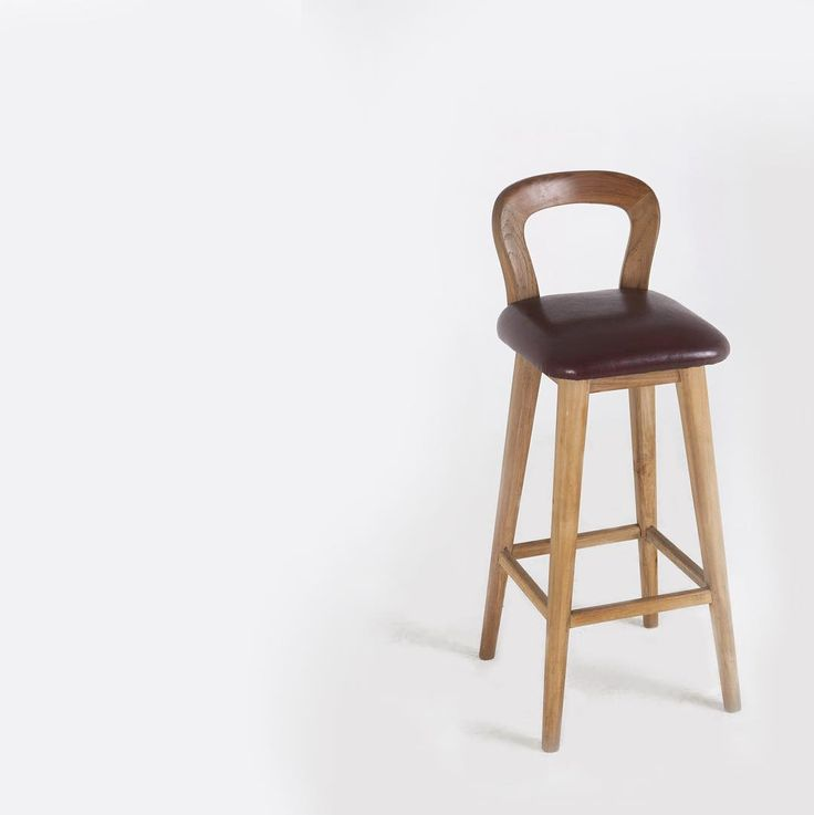 teak wood : stool bar, mid century. #withpatinainterior by Hendra Wijaya, Indonesia. Click picture for more angles..