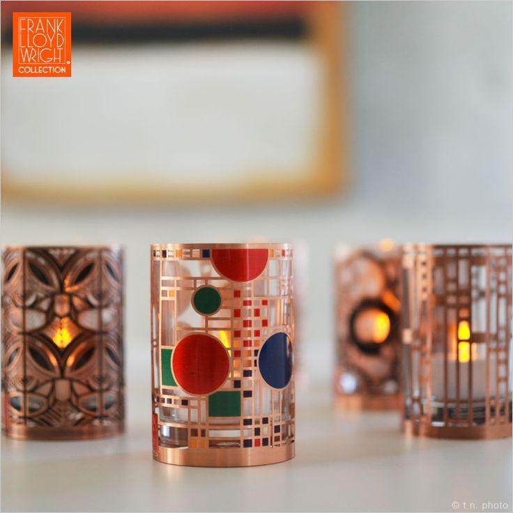 近代建築の巨匠フランクロイドライトのデザイン。フランクロイドライト アートグラス LEDキャンドル LEDキャンドル ロウソク 蝋燭 キャンドル LEDライト 母の日