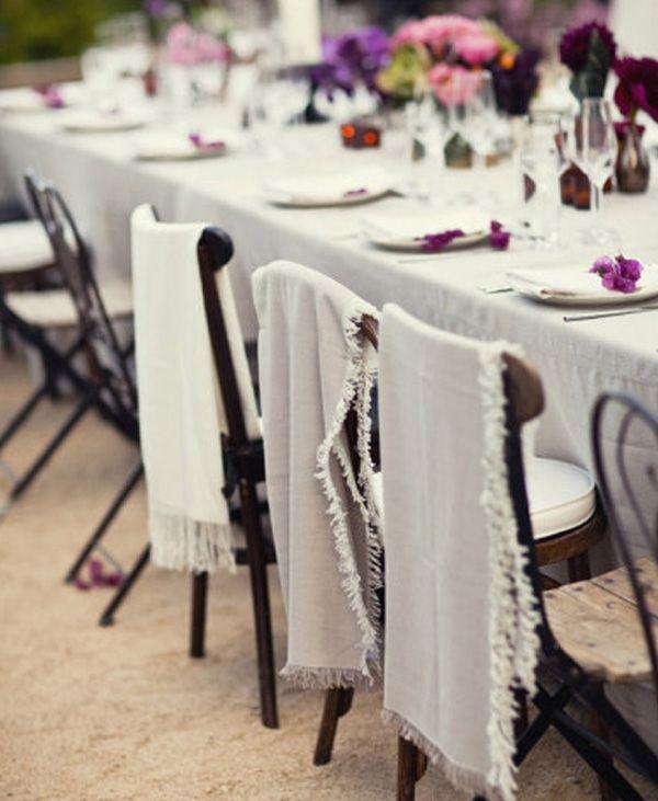 Les 25 meilleures id es de la cat gorie chaise de mariage couvertures sur pin - Customiser une chaise ...
