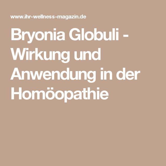 Bryonia Globuli - Wirkung und Anwendung in der Homöopathie