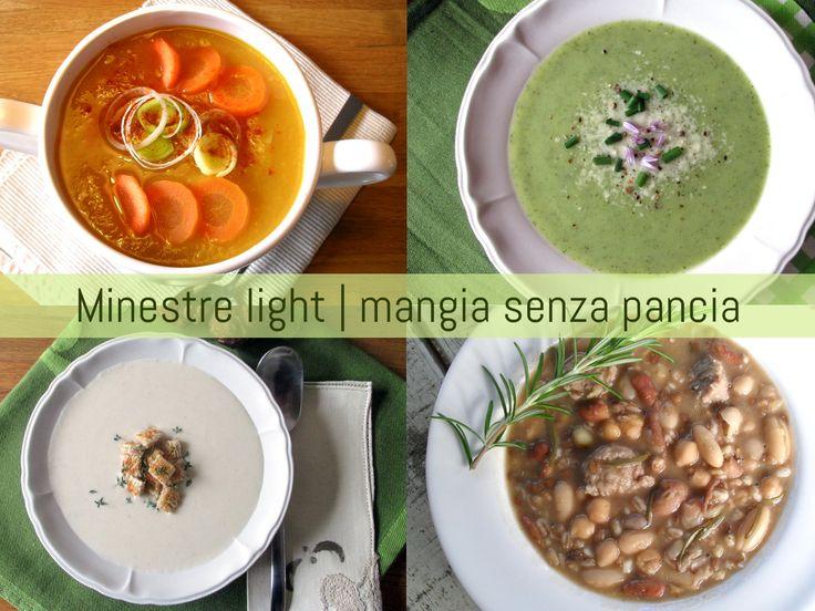 Una raccolta di ricette di minestre light: zuppe, creme e vellutate leggere e riempitive, ideali per pranzo e cena e facili da realizzare.