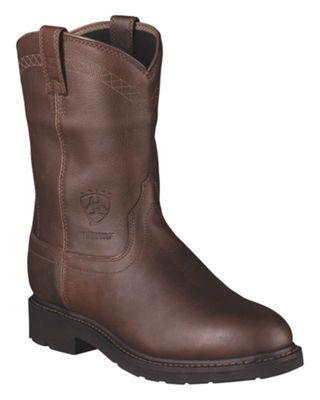 Ariat Sierra H2O Waterproof Pull-On Work Boots for Men - Sunshine - 11.5 M