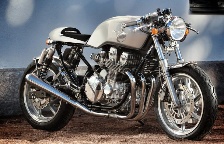 Rewheeled Honda CB750 Cafe Racer