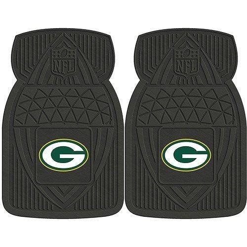 18 X 27 NFL Packers Mat Set Vinyl Floor Football Themed Sports Patterned Truck Non Slip Gift Fan Team Logo Fan Merchandise Athletic Spirit Black Green Gold White