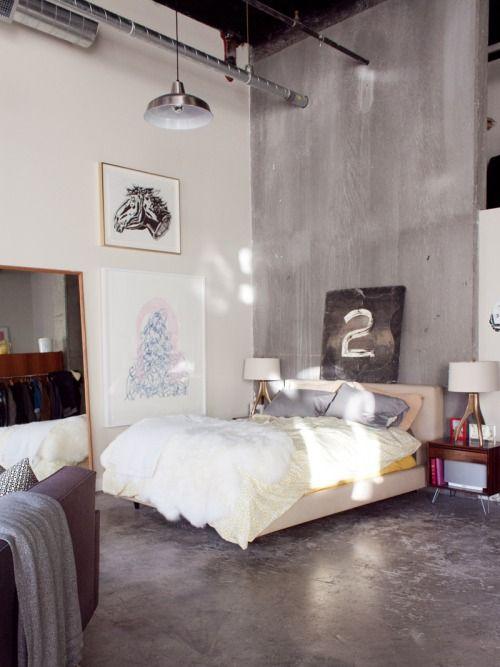 Best 25 Concrete Bedroom Ideas On Pinterest Industrial Interior Design Industrial Bedroom