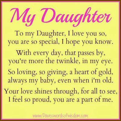 Daveswordsofwisdom.com: A Poem To My Daughter