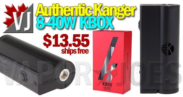 BONAFIDE STEAL! – Authentic Kanger KBOX 40W Box Mod – $13.55