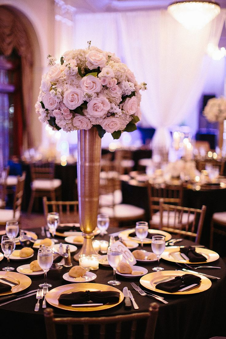 146 best BLACK and GOLD WEDDINGS and CENTERPIECES images on ...
