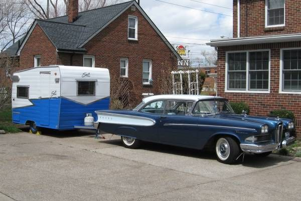 1965 Shasta Compact and 1958 Edsel