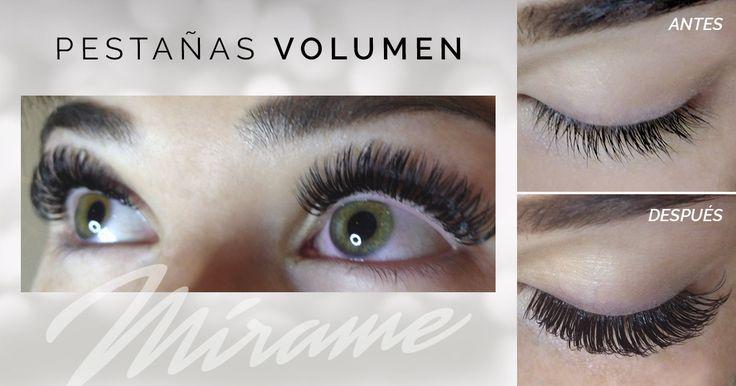 Extensiones de #máximo volumen made in Mírame Lashes & Brows miramexxl.com