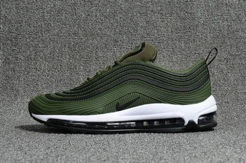 barato Fashion Nike Air Max 97 Jungle Green Black White Nike