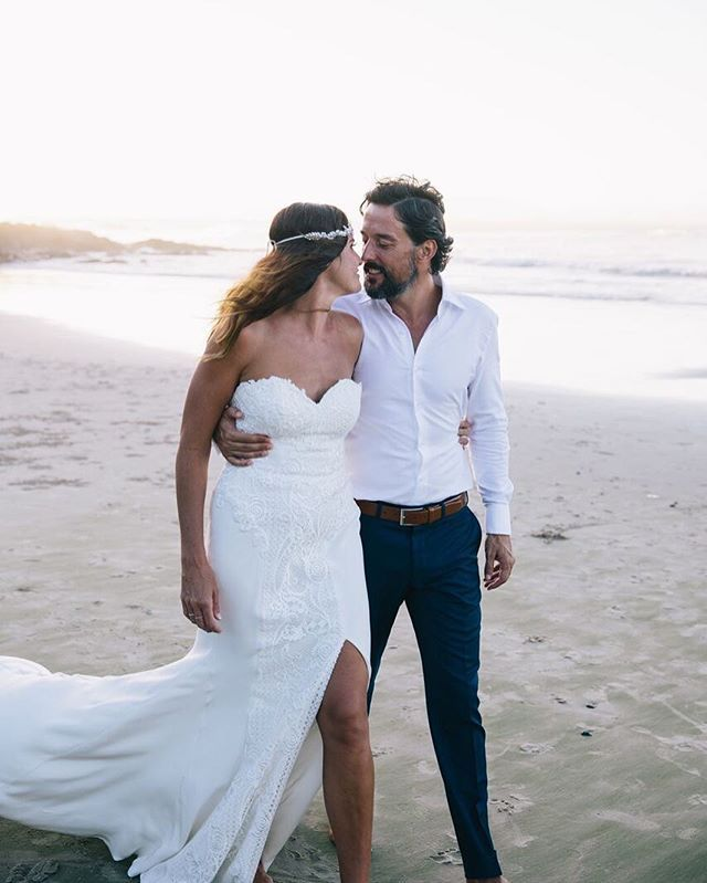 Lace wedding gown #MoiraHughes Couture #byronwedding byron bay wedding white lace dress