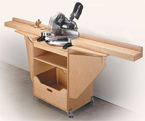 miter tool cabinet - mobile and compact when folded up - just what my garage needs