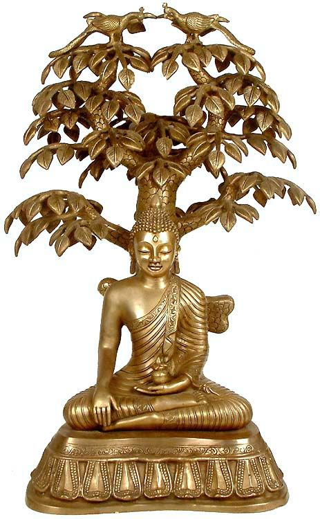 The tree, with its annual renewal of foliage, reminds us of life's continuity and suggests that Buddha was that day reborn (spiritually), as each of us will be on our own day of resurrection (Unless a man is born again, he cannot see the Kingdom of God (John 3: 3)).