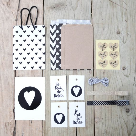 Wrapping goodiebag for little presents van Project3design op Etsy