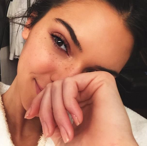 Celebs without makeup Instagram edition for 2015 -Kendall Jenner