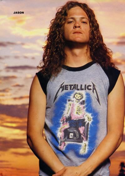 This is Jason Newsted. He was the past bassist for Metallica after the popular bassist Cliff Burton died in a  tour bus crash. The first album he played bass on was ...And Justice For All (1988) ~Amberstar