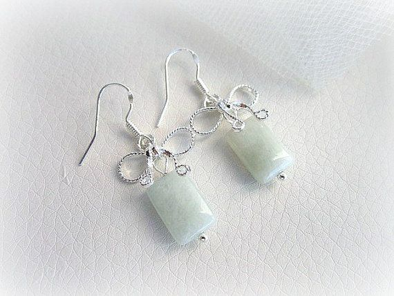 Genuine aquamarine and silver 925 earrings by MalinaCapricciosa, $27.50