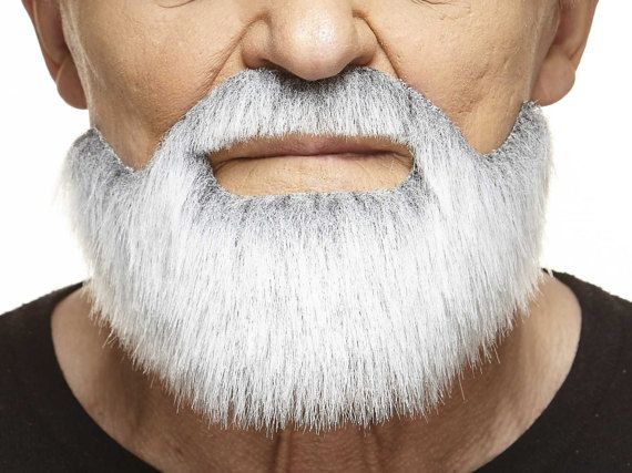 Short Boxed gray with white beard and mustache 155-MB