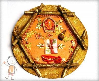Rakhi Thali - buy online #decorated #rakhi #thali.         Designer Rakhi Thali
