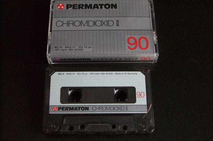 PERMATON  VINTAGE AUDIO CASSETTE TAPE CHROMDIOXID II  90 ( TYPE II )( 1980 ) #PERMATON