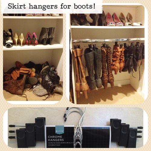 Target Skirt Hangars For Hanginu0027 Boots! Ughhhh Need To Do This Assapp