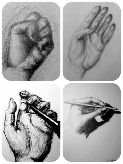 Nejbližší, co se dá kreslit, je naše druhá ruka. A tady máte ukázku čtyř nálad mé levé ruky :) Pokaždé jsem použila jinou metodu. Kresleno propiskou, tužkou, uhlem a pentilkou❣ Krásný večer všem❣ S láskou, Barča ♥ ►►►www.sobotkovabarbora.com◄◄◄