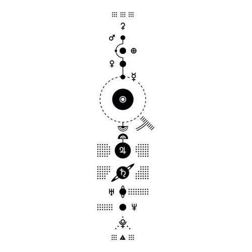 Resultado de imagen de minimalist solar system