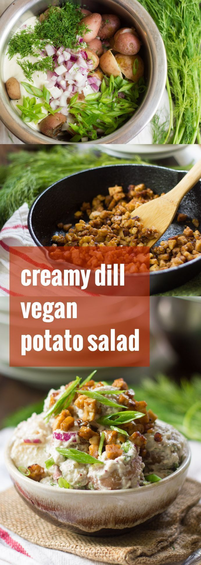 vegan potato salad is made with tender red potatoes in creamy ...