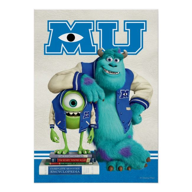 Create Your Own Poster Zazzle Com In 2021 Monster University Monsters Inc Movie Mike And Sulley