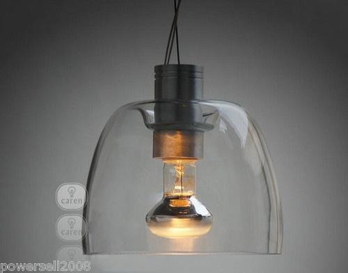 Simplicity Modern 1*Light Transparent Glass Diameter 15CM Droplight Hanging Lamp