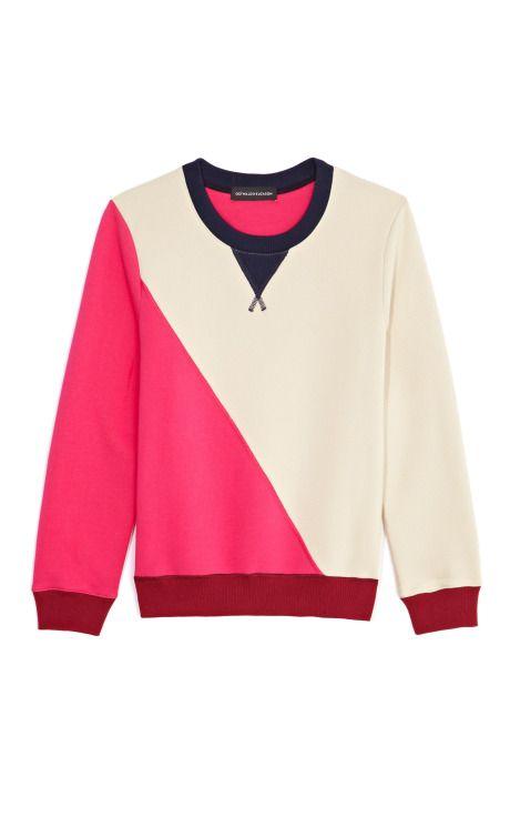 Color Blocked Sweatshirt by Ostwald Helgason Now Available on Moda Operandi