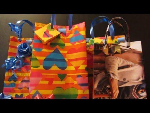 Como hacer bolsas para regalo con abre fácil.