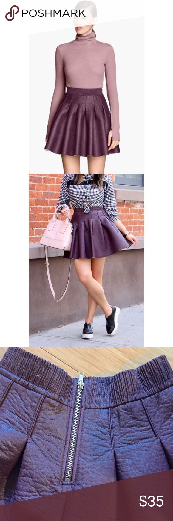 17 best ideas about leather skater skirts on