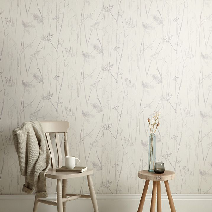 John Lewis Croft Collection Grasses Wallpaper French Grey
