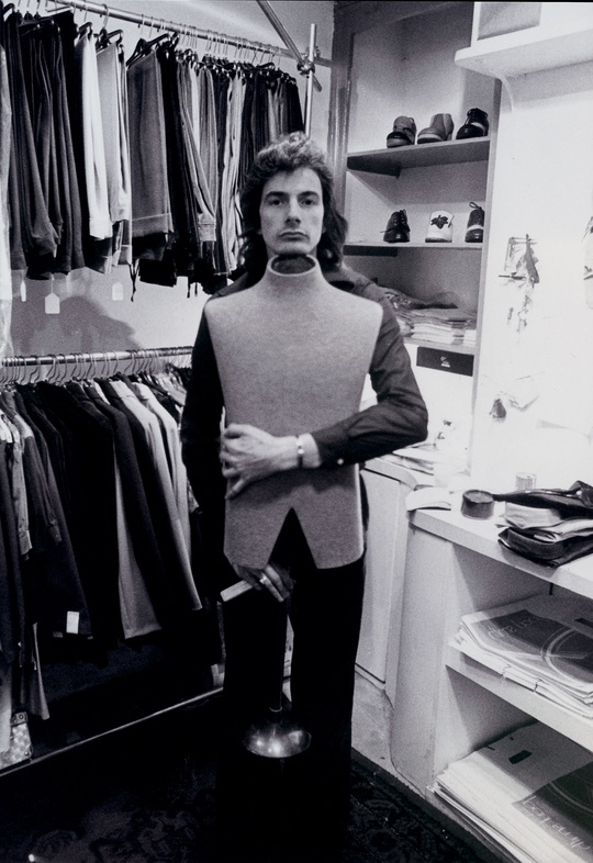 Paul Smith in his 1st Nottingham shop, Vêtement (the French word for clothing) in October, 1970