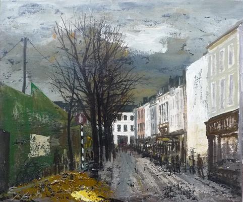 Vrijthof, Maastricht tijdens bouw parkeergarage; Charles Eyck