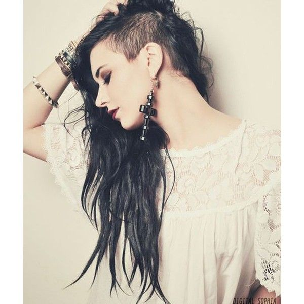 Half Shaved Hairstyles For Women 2015 ❤ liked on Polyvore