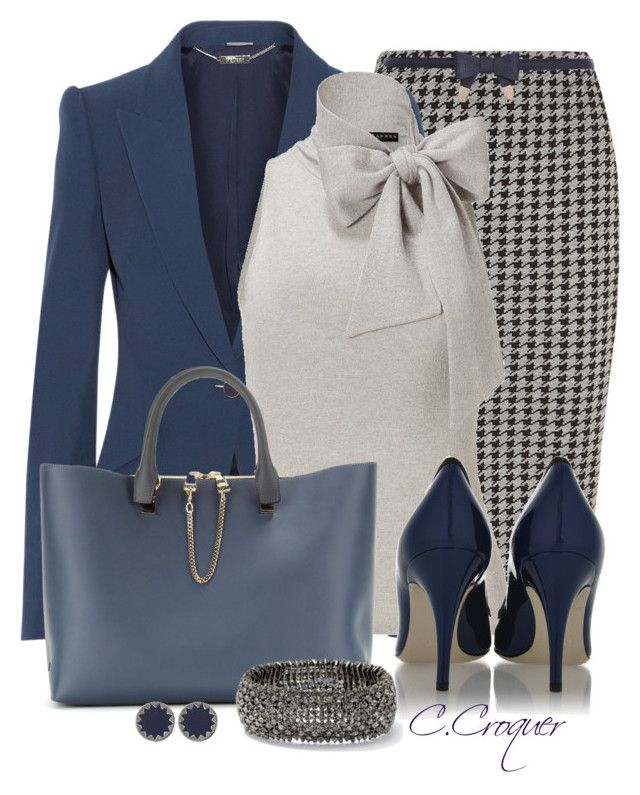 """""""Navy & Grey"""" by ccroquer ❤ liked on Polyvore featuring Dorothy Perkins, Alexander McQueen, Ralph Lauren, Chloé, River Island, House of Harlow 1960 and Dolce&Gabbana"""