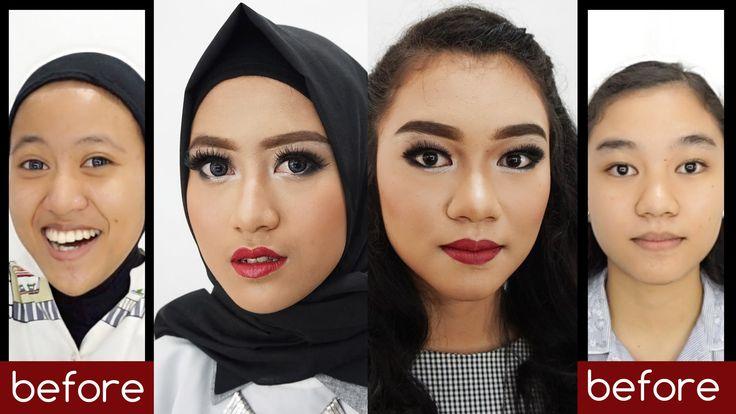 Tutorial Makeup Natural Untuk Pesta / Photoshoot dengan Sentuhan Lipstic...